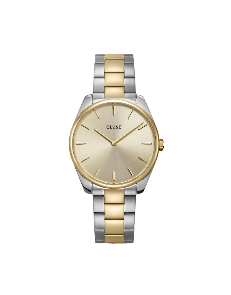 Cluse Cluse CW0101212004 Horloge Dames Féroce 3Link Soft Gold/Silver