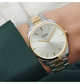 Cluse Cluse CW0101212004 Horloge Dames Féroce 3Link Soft Gold/Silver