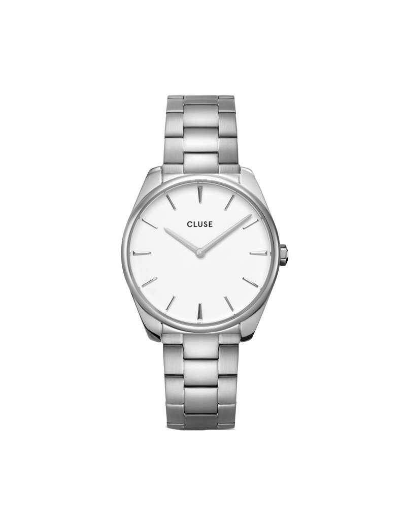 Cluse Cluse CW0101212003 Horloge Dames Féroce 3Link Silver/White