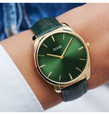 Cluse Cluse CW0101212006 Horloge Dames Leather Gold Forest Green