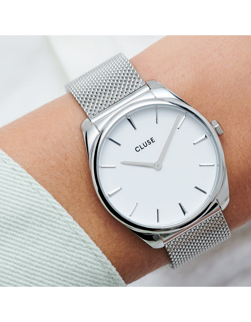Cluse Cluse CW0101212001 Horloge Dames Silver Mesh