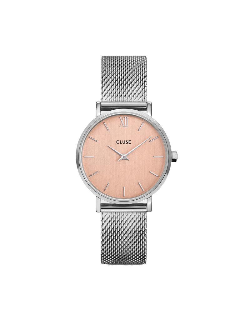 Cluse Cluse CW0101203029 Horloge Dames Minuit Mesh Silver Rose