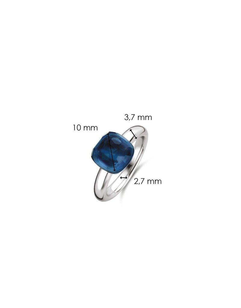 Ti Sento Milano Ti Sento-Milano 12187DB/56 Ring Zilver met blauw Crystall Maat 56