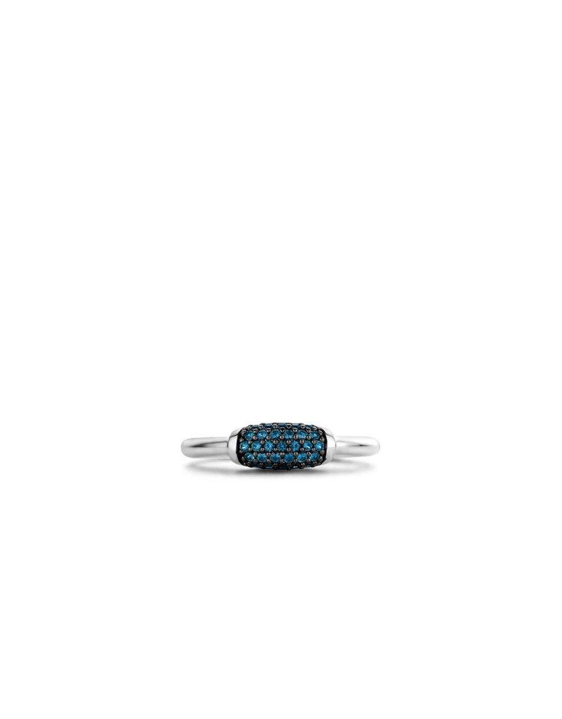 Ti Sento Milano Ti Sento-Milano 12192DB/56 Ring Zilver met Blauwe zirkonia Maat 56