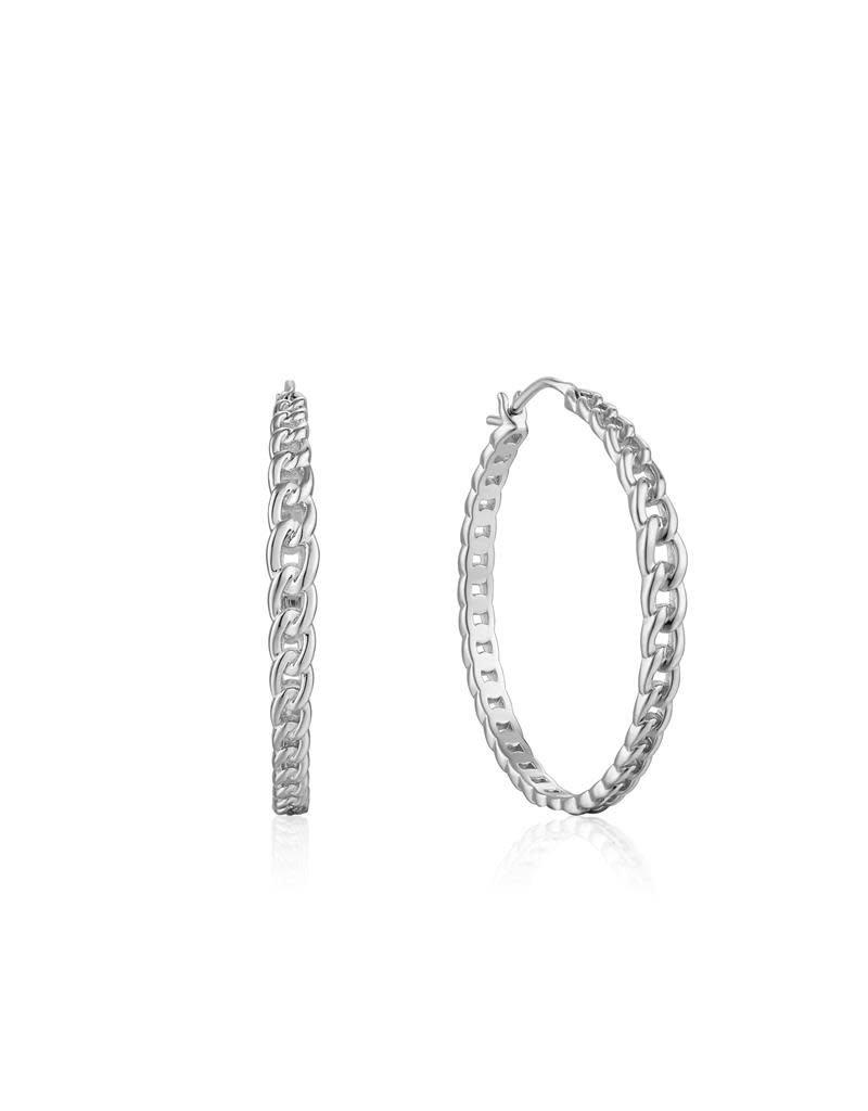 ANIA HAIE JEWELRY Ania Haie AH E021-06H Oorbel Zilver Curb Chain Hoop