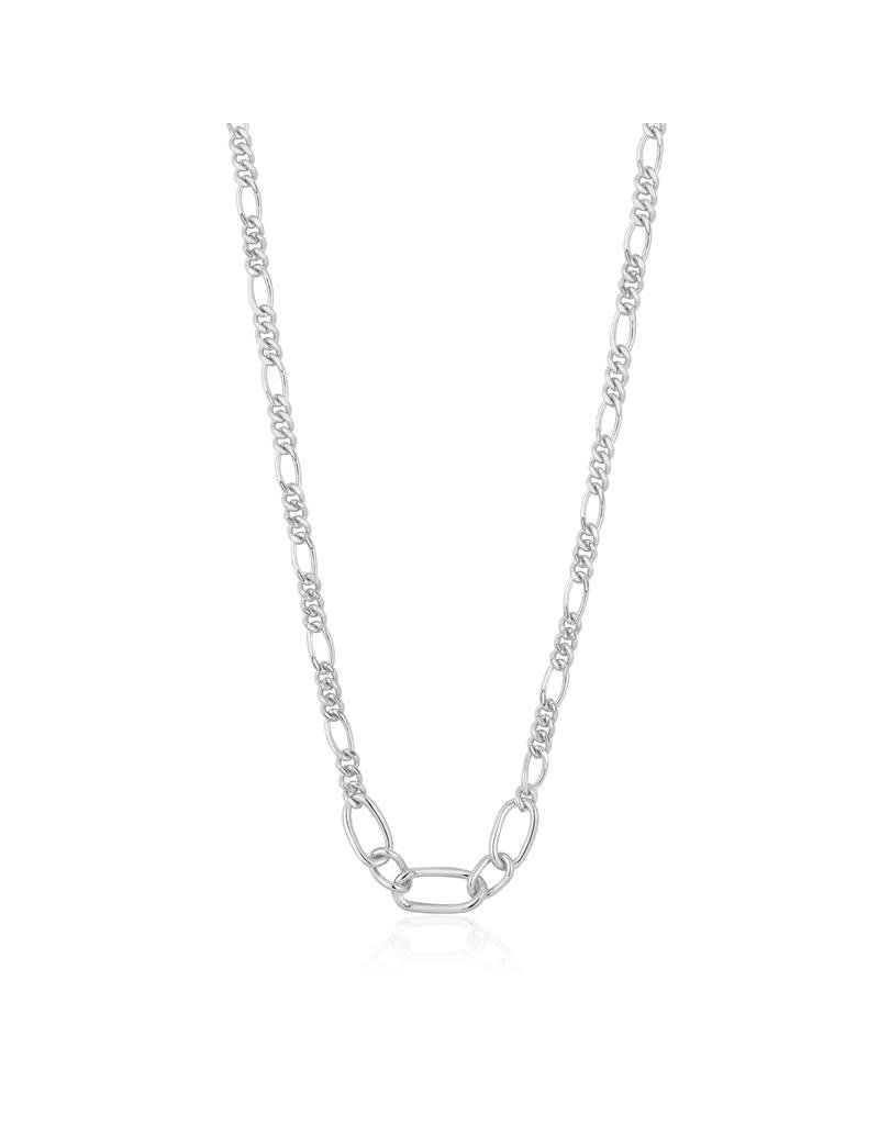 ANIA HAIE JEWELRY  AH N021-03H Ketting Zilver Figaro Chain