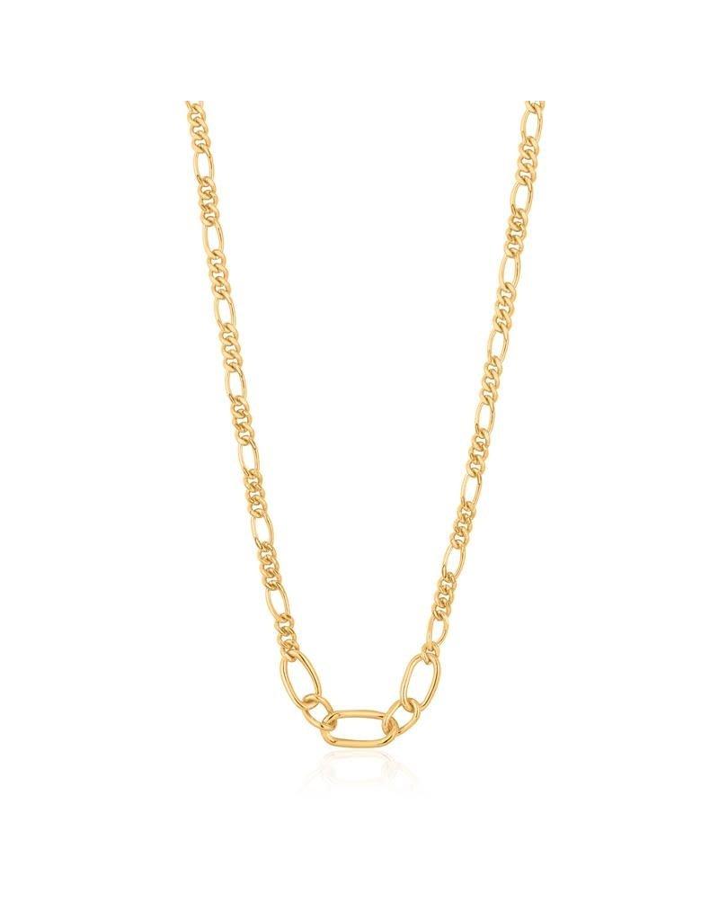 ANIA HAIE JEWELRY Ania Haie AH N021-03G Ketting Zilver verguld Figaro Chain