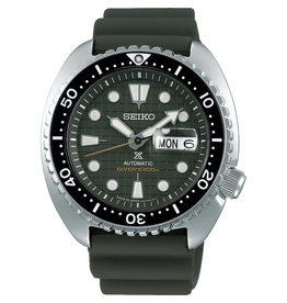Seiko_Exclusive Seiko SRPE05K1 Horloge Prospex Automatic groen siliconen Sapphire glas