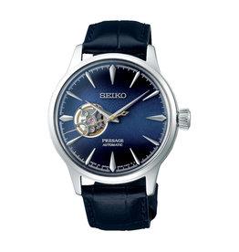 Seiko_Exclusive Seiko SSA405J1 Horloge heren Presage automaat leer blauw
