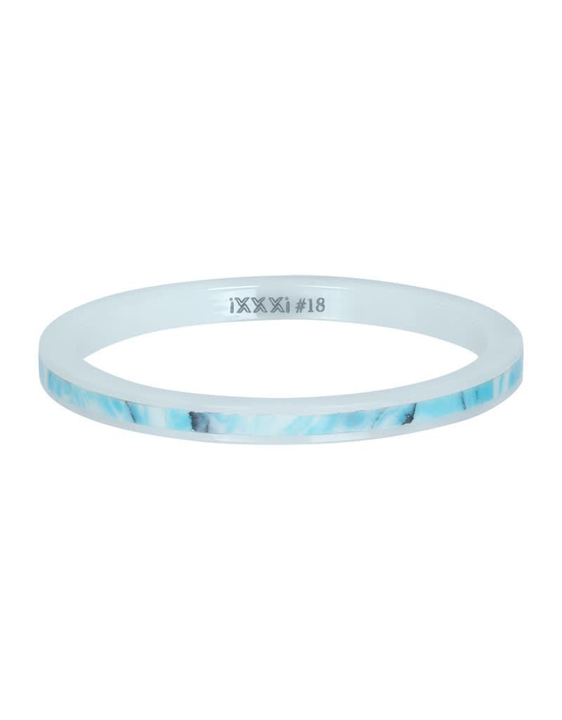 iXXXi iXXXi R03312-06 18 Ring Ceramic Blue Paradise maat 18
