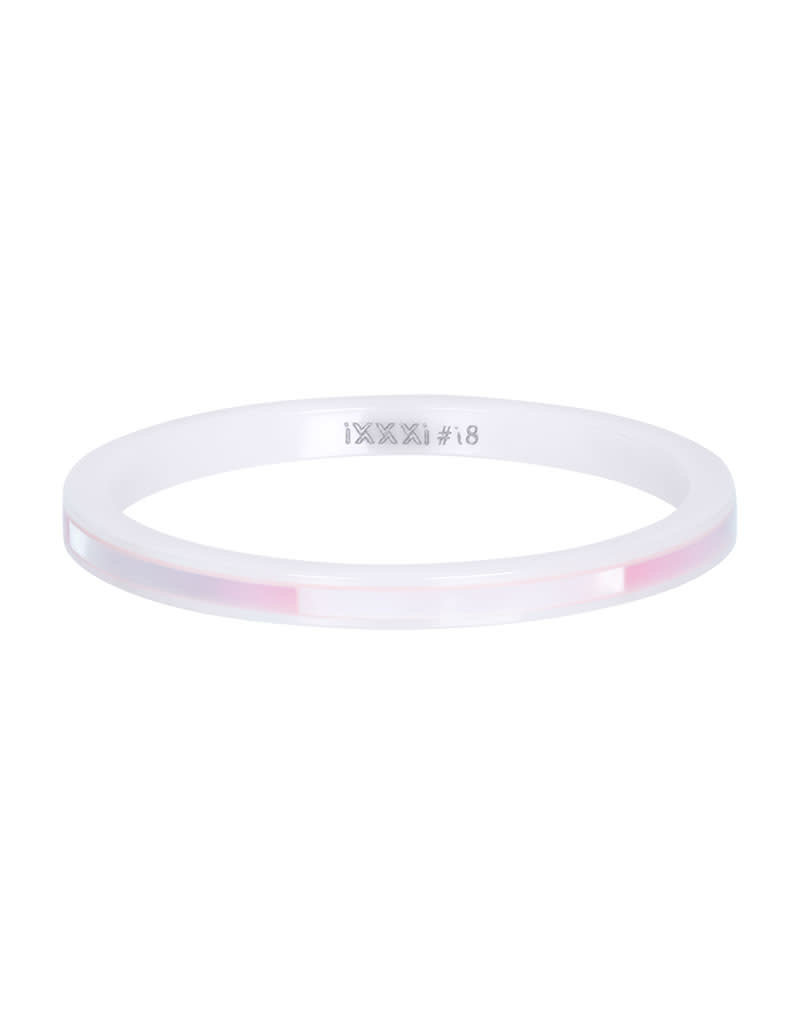 iXXXi iXXXi R03305-06 19 Ring Ceramic pink shell maat 19