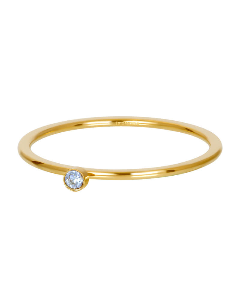 iXXXi iXXXi R03909-01 20 Ring goud light saphire 1 stone crystal maat 20