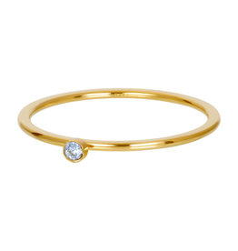 iXXXi iXXXi R03909-01 21 Ring goud light saphire 1 stone crystal maat 21