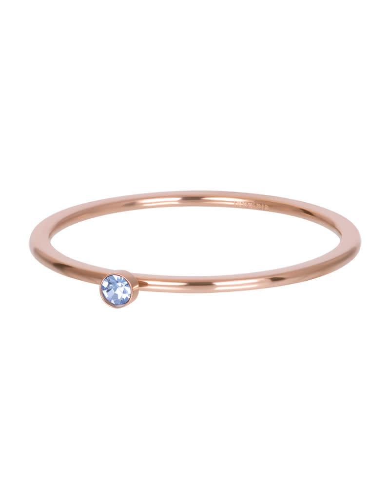 iXXXi iXXXi R03909-02 19 Ring rosé light saphire 1 stone crystal maat 19