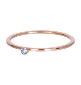 iXXXi iXXXi R03909-02 20 Ring rosé light saphire 1 stone crystal maat 20