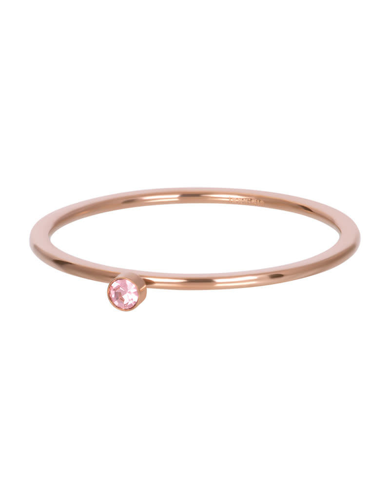 iXXXi iXXXi R03908-02 18 Ring rosé pink 1 stone crystal maat 18