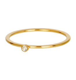 iXXXi iXXXi R03907-01 19 Ring goud Blond flare 1 stone crystal maat 19