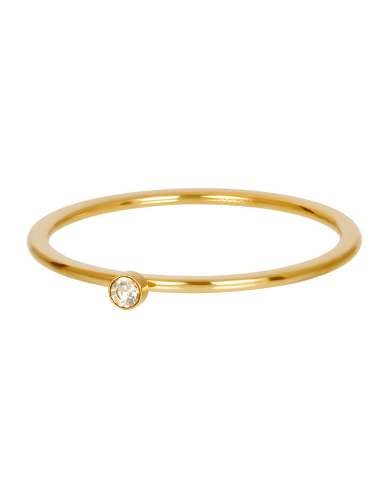 iXXXi iXXXi R03907-01 21 Ring goud Blond flare 1 stone crystal maat 21