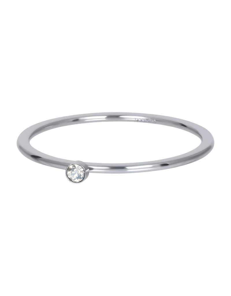 iXXXi iXXXi R03907-03 18 Ring zilver Blond flare 1 stone crystal maat 18