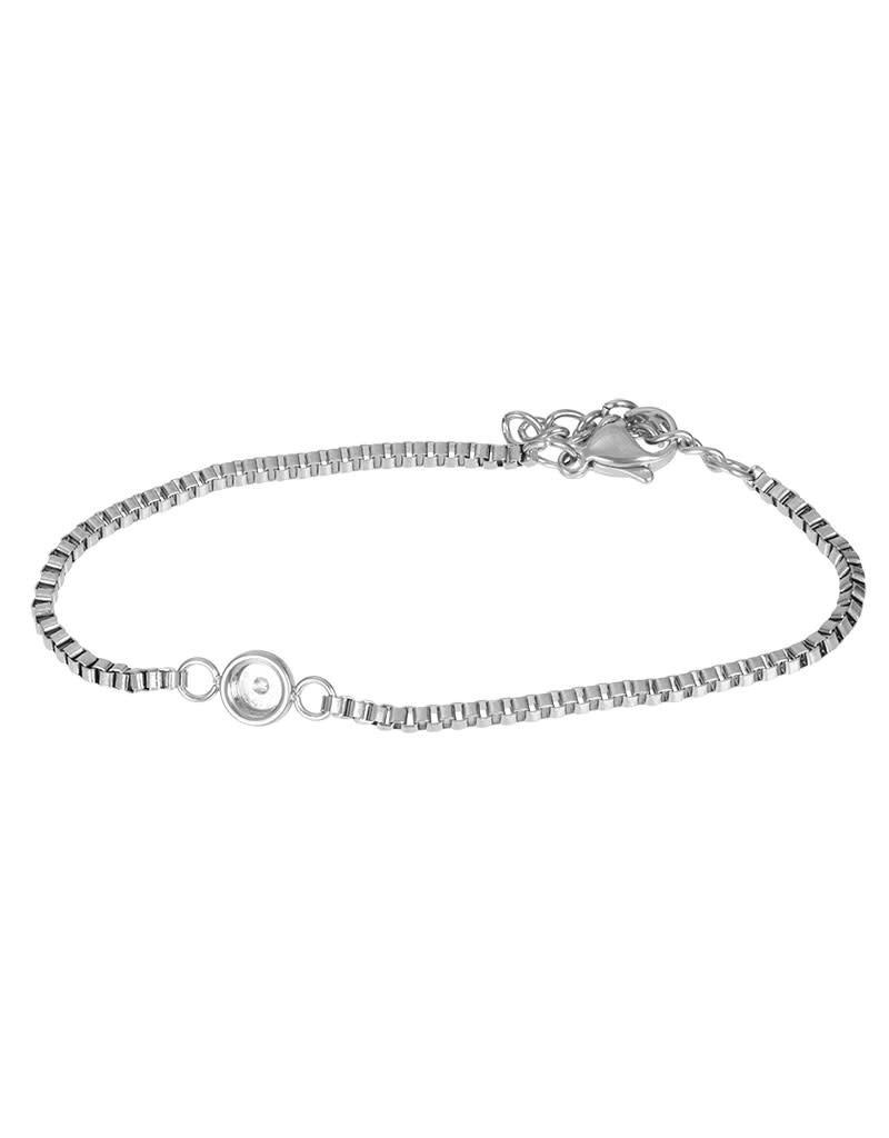 iXXXi iXXXi B0031999003 Armband zilver top part base 17+3cm