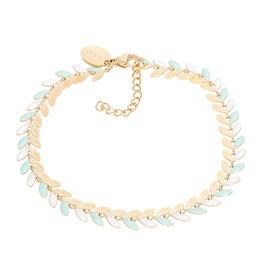 iXXXi iXXXi B0037999001 Armband goud Malediven green 18+3cm