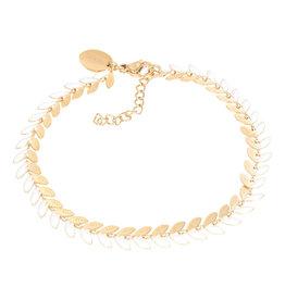 iXXXi iXXXi B0038099001 Armband goud Malediven white 18+3cm