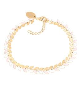 iXXXi iXXXi B0038299001 Armband goud Malediven pink 18+3cm