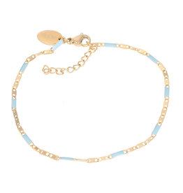 iXXXi iXXXi B0038599001 Armband goud Curacao blue 18+3cm