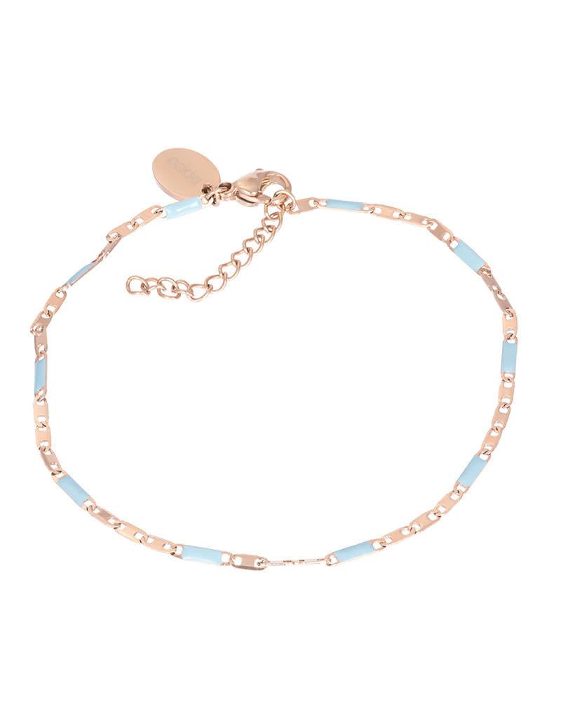 iXXXi iXXXi B0038599002 Armband rosé Curacao blue 18+3cm