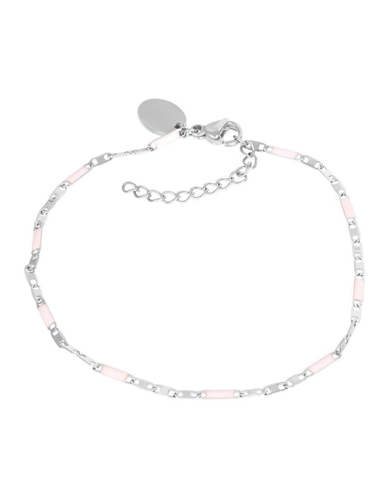 iXXXi iXXXi B0038699003 Armband zilver Curacao pink 18+3cm
