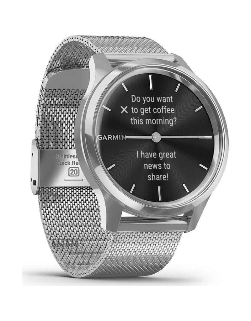 Garmin Garmin 010-02241-03 Smartwatch Vivomove luxe Silvermesh