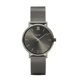 Cluse Cluse CW0101203025 Horloge Minuit Mesh Dark Grey