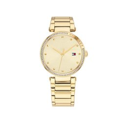 Tommy Hilfiger Tommy Hilfiger TH1782235 Horloge Dames Lynn Staal goldplated
