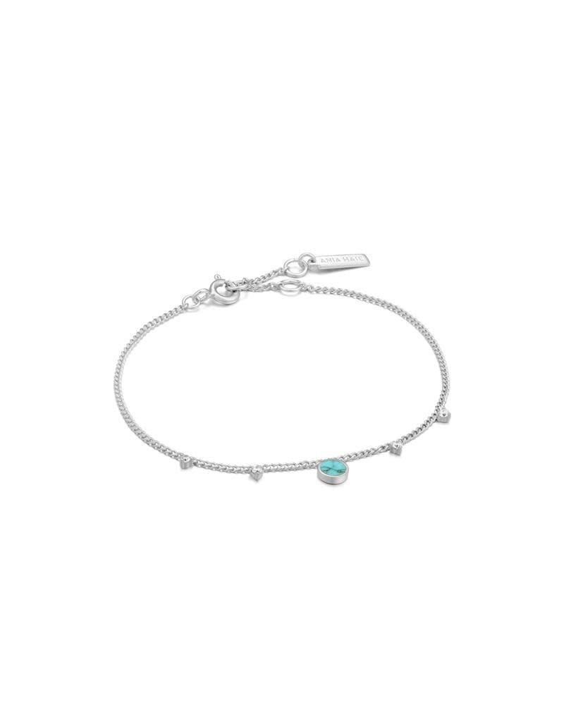 ANIA HAIE JEWELRY Ania Haie B022-03H Armband Turquoise drop disc zilver