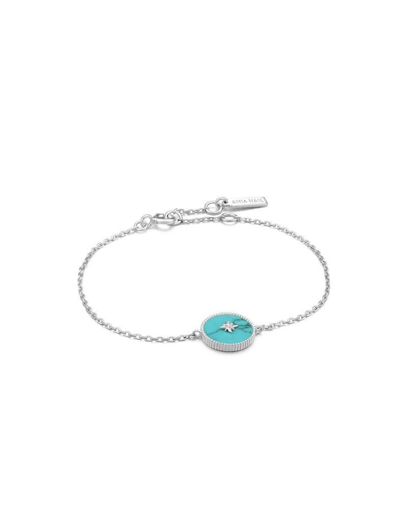 ANIA HAIE JEWELRY  B022-02H Armband Turquoise Emblem zilver