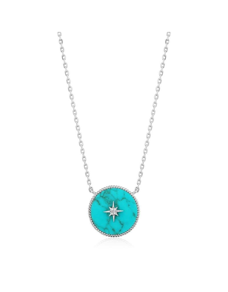 ANIA HAIE JEWELRY  N022-02H Ketting Turquoise Emblem zilver
