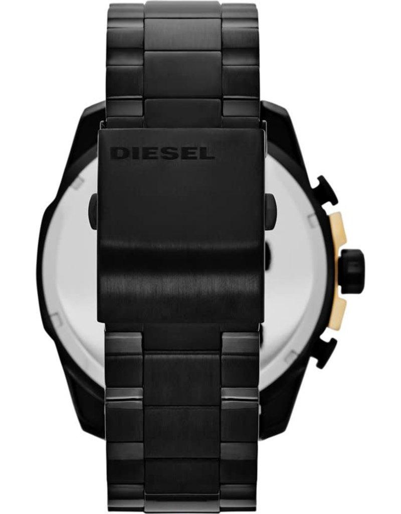 Diesel Diesel DZ4338 Horloge Heren Megachief Staal Zwart/Goud