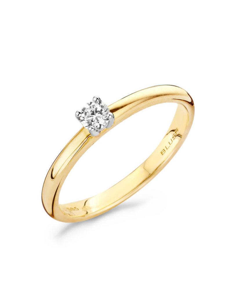 Blush 1603BDI/54 Ring 14 KRT goud met diamant maat 54