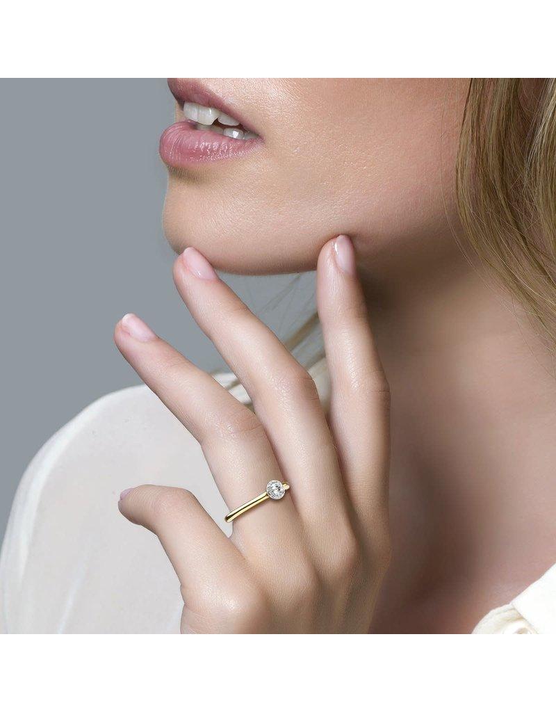 Blush 1131BZI/54 ring 14 krt geelgoud met zirkonia maat 54