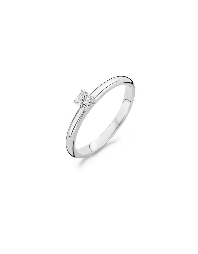 Blush 1112WZI/54 ring 14 krt witgoud met zirkonia