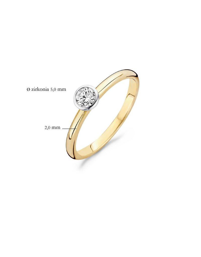 Blush Blush 1124BZI/54 bicolor gouden ring met zirkonia - Maat 17.25 mm (54)