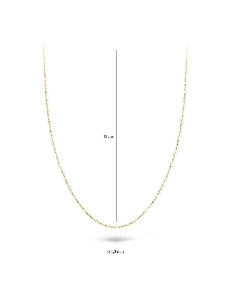 Blush 3010YGO/42 Collier 14 krt geelgoud 42 cm