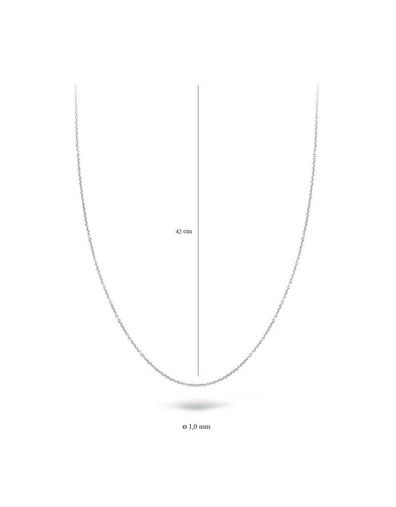 Blush 3046WGO/42 Collier 14 krt witgoud 42 cm