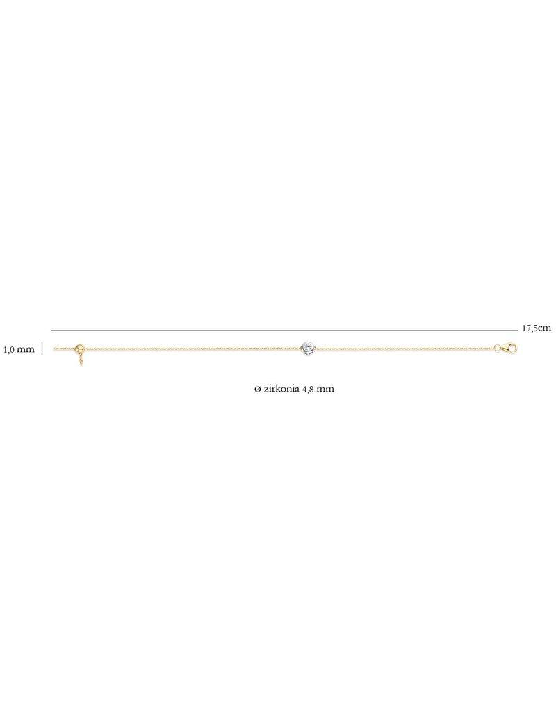 Blush 2167BZI Armband 14 krt geelgoud met zirkonia