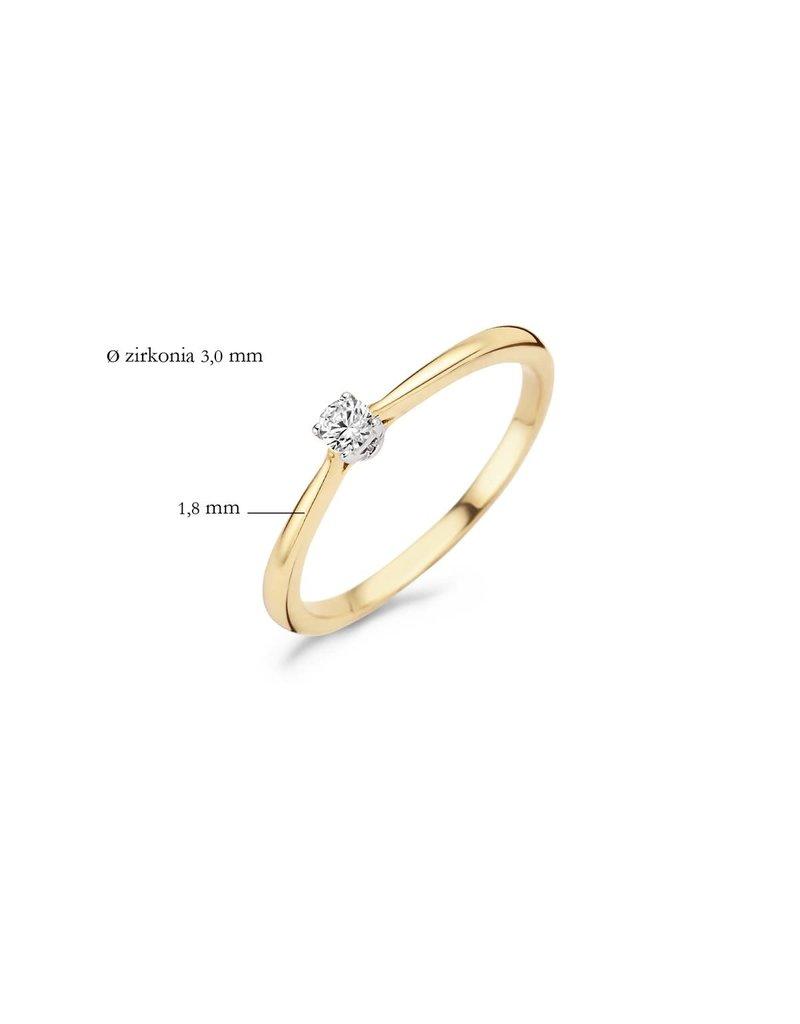 Blush 1186BZI/54 Ring 14 krt geelgoud met zirkonia maat 54