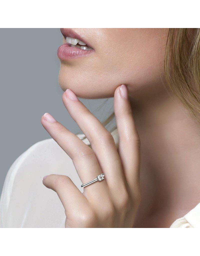 Blush 1133WZI Ring 14 krt witgoud met zirkonia