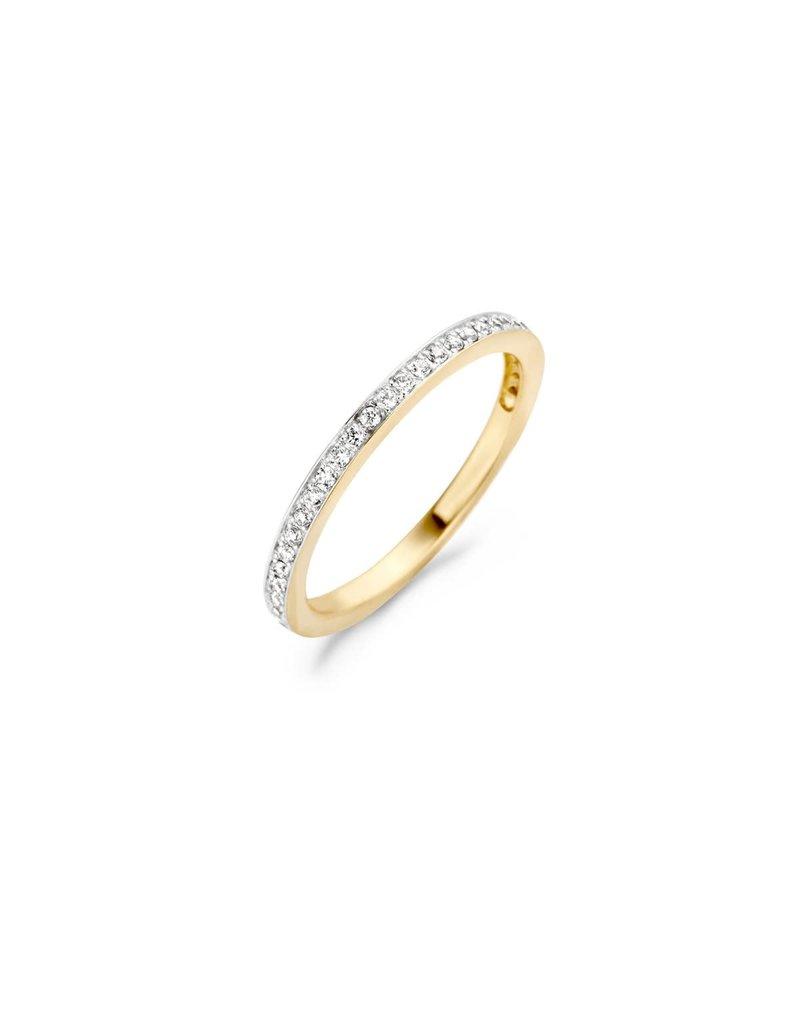 Blush 1119BZI /54 Ring 14 krt geelgoud met zirkonia maat 54