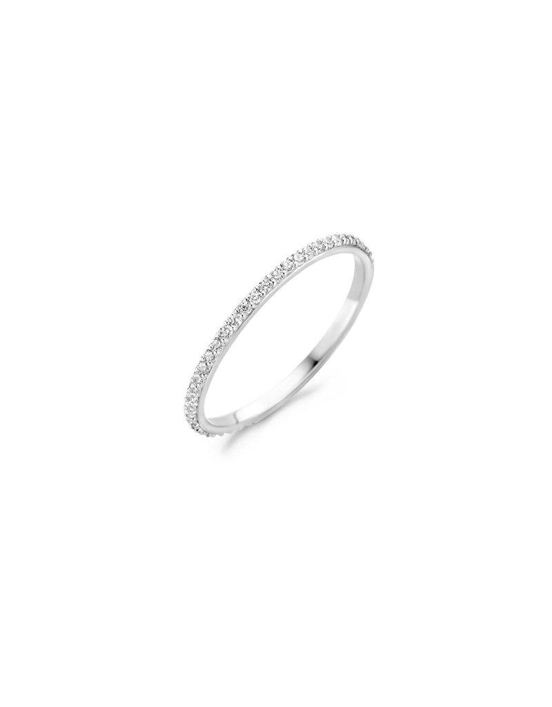 Blush 1201WZI/52 Ring 14 krt witgoud met zirkonia maat 52