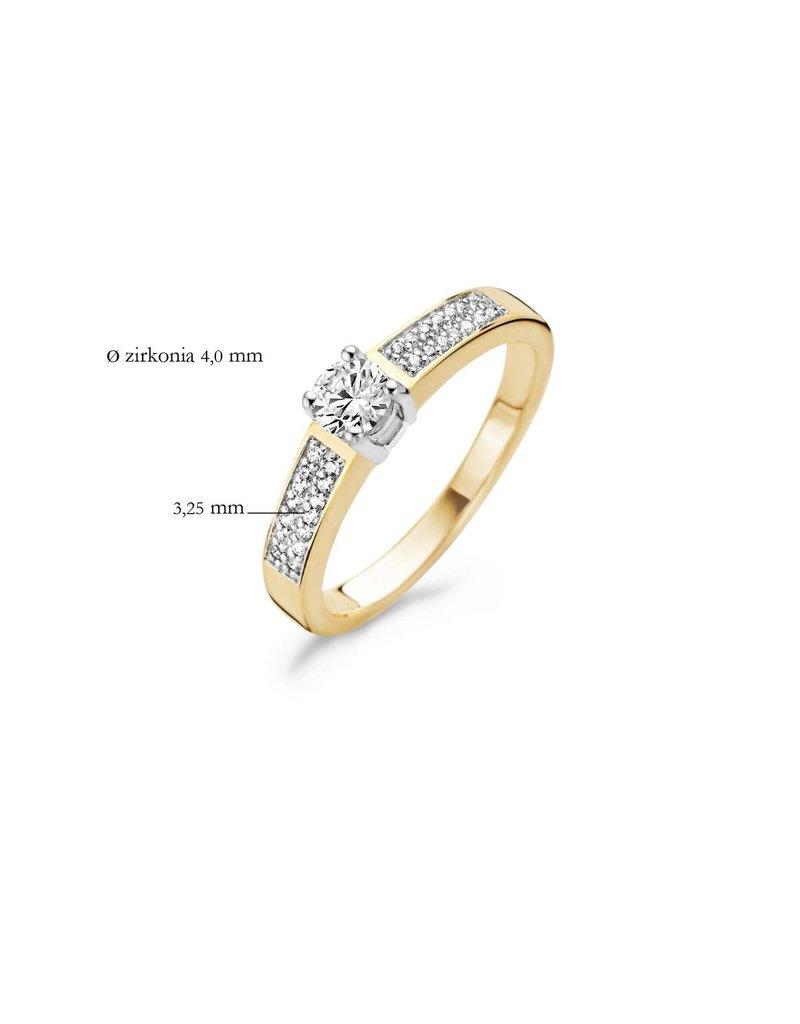 Blush 1144BZI/54 Ring 14 krt geelgoud met zirkonia maat 54