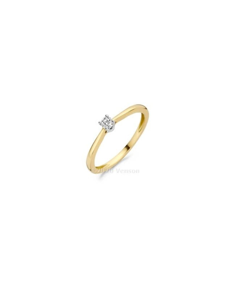 Blush 1622BDI/54 Ring 14 krt geelgoud met Diamant maat 54